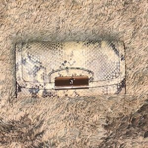 Coach snake print leather wallet